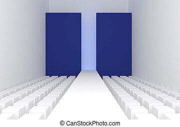 3d Empty fashion runway