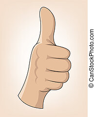 Thumb Up Gesture  - Vector Illustration Of Thumb Up Gesture