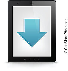 Tablet PC. Vector EPS 10.