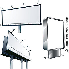 advertising billboard - Set of outdoor advertising billboard