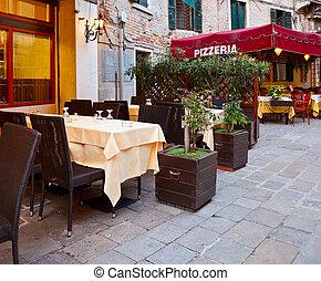 Italian Pizzeria - Street cafe in Verona, Italy
