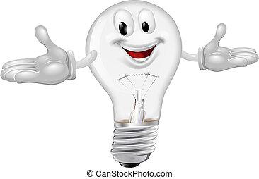 Light bulb mascot - Illustration of a cute light bulb mascot...