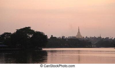 Shwedagon Pagoda sunset - Yangon, Myanmar
