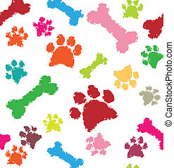 bone and paw texture in color