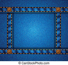 Jeans frame with buttons