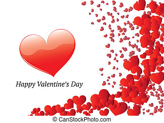 Valentines day greeting card - Horizontal Valentines Day...
