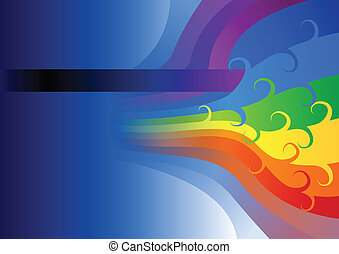 abstract rainbow flow