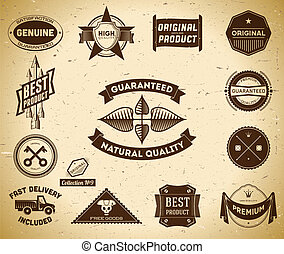 Vintage labels. Collection 9 - Set of vintage Premium...