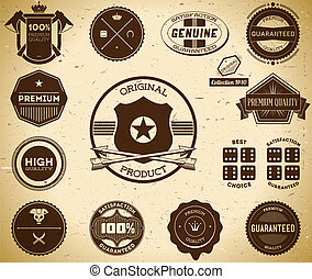 Vintage labels Collection 10 - Set of vintage Premium...