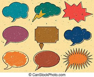 Vintage speech bubbles