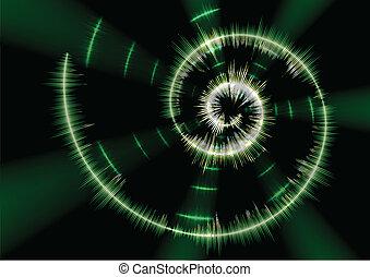 Spiral music waveform - Reflecting spiral music waveform...