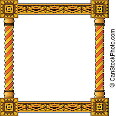 Traditional wooden frame - Traditional carved wooden frame...
