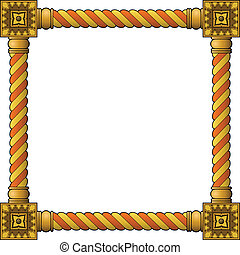 Traditional wooden frame - Traditional wooden carved frame...