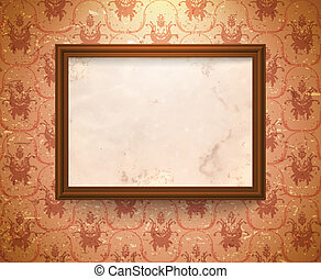 Aged frame on the wall