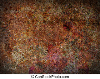 Rusty background - Colorful rusty metal background with...