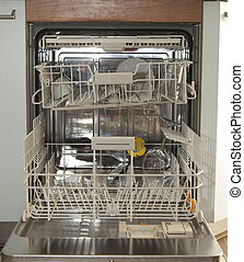 Dishwasher - Interior of a nearly empyy washing machine