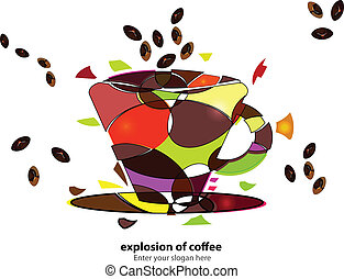 Explosion of coffee