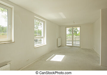 newly constructed room interior
