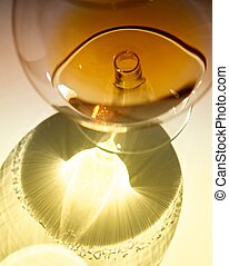 Cognac in a glass goblet