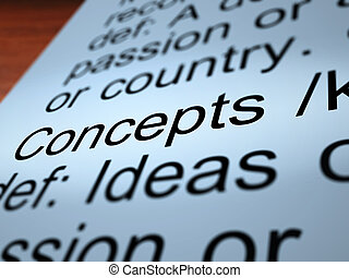 Concepts Definition Closeup Showing Ideas Or Invention