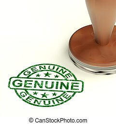 Genuine Stamp Showing Real Certified Products
