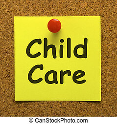 Child Care Note As Reminder For Kids Daycare - Child Care...
