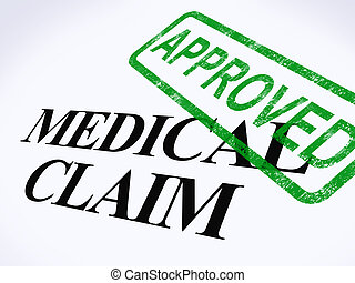 Medical Claim Approved Stamp Showing Successful Medical...
