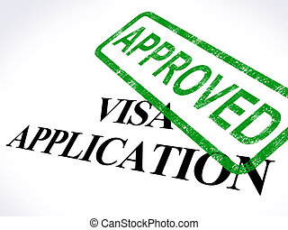 Visa Application Approved Stamp Showing Entry Admission...
