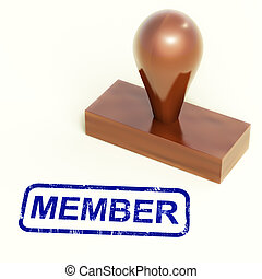 Member Rubber Stamp Showing Membership Registration And Subscribing