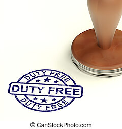 Duty Free Stamp Showing No Tax Shopping