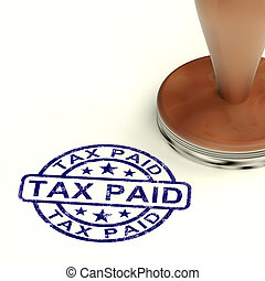 Tax Paid Stamp Showing Excise Or Duty Paid - Tax Paid Stamp...