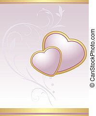 Lilac hearts. Background for card