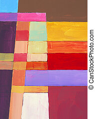 blocky abstraction - an abstract painting