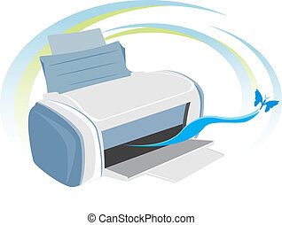 Printer. Vector illustration