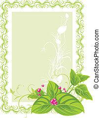 Decorative frame. Spring bouquet
