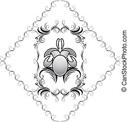 Decorative element in the frame for design. Vector...