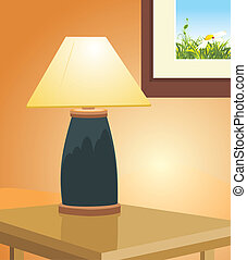 Reading lamp and picture