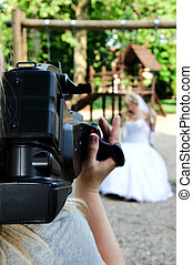 Wedding recording with the camera
