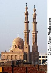 Aswan Cityscape - Aswan Mosque, Egypt.