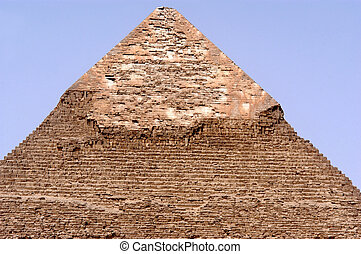 The Great Pyramids in Giza - The broken top of the Pyramid...