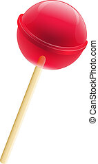 LollyPop - Delicious LollyPop, Isolated On White Background,...