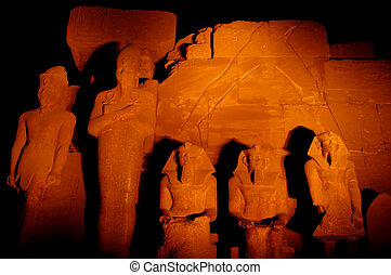 Karnak Temple - The Sound and Light Show in Karnak Temple,...
