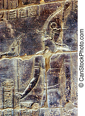 Temple of Philae - Ancient Egyptian artwork in Temple of...