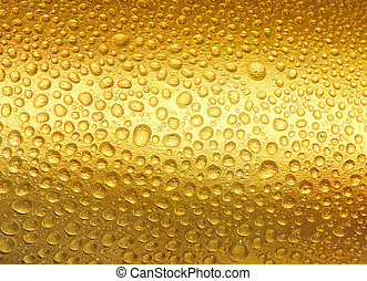 Abstract golden drops of water. - Luxury golden texture.Hi...