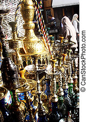 Khan Khalili Market in Cairo - Merchandise in Khan Khalili...