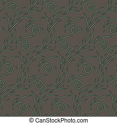 Vector seamless pattern of beds