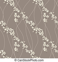 Vector seamless pattern with sakura - Beautiful vector...