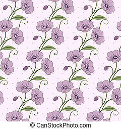 Elegant seamless pattern with flowe