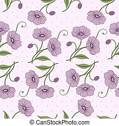 Elegant seamless pattern with flowe - Elegant seamless...