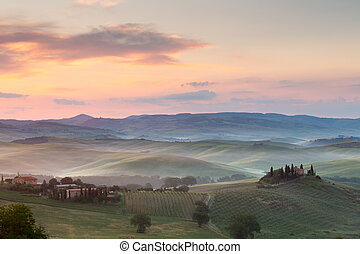 Misty morning in Tuscany - Misty morning in the Tuscan hills...